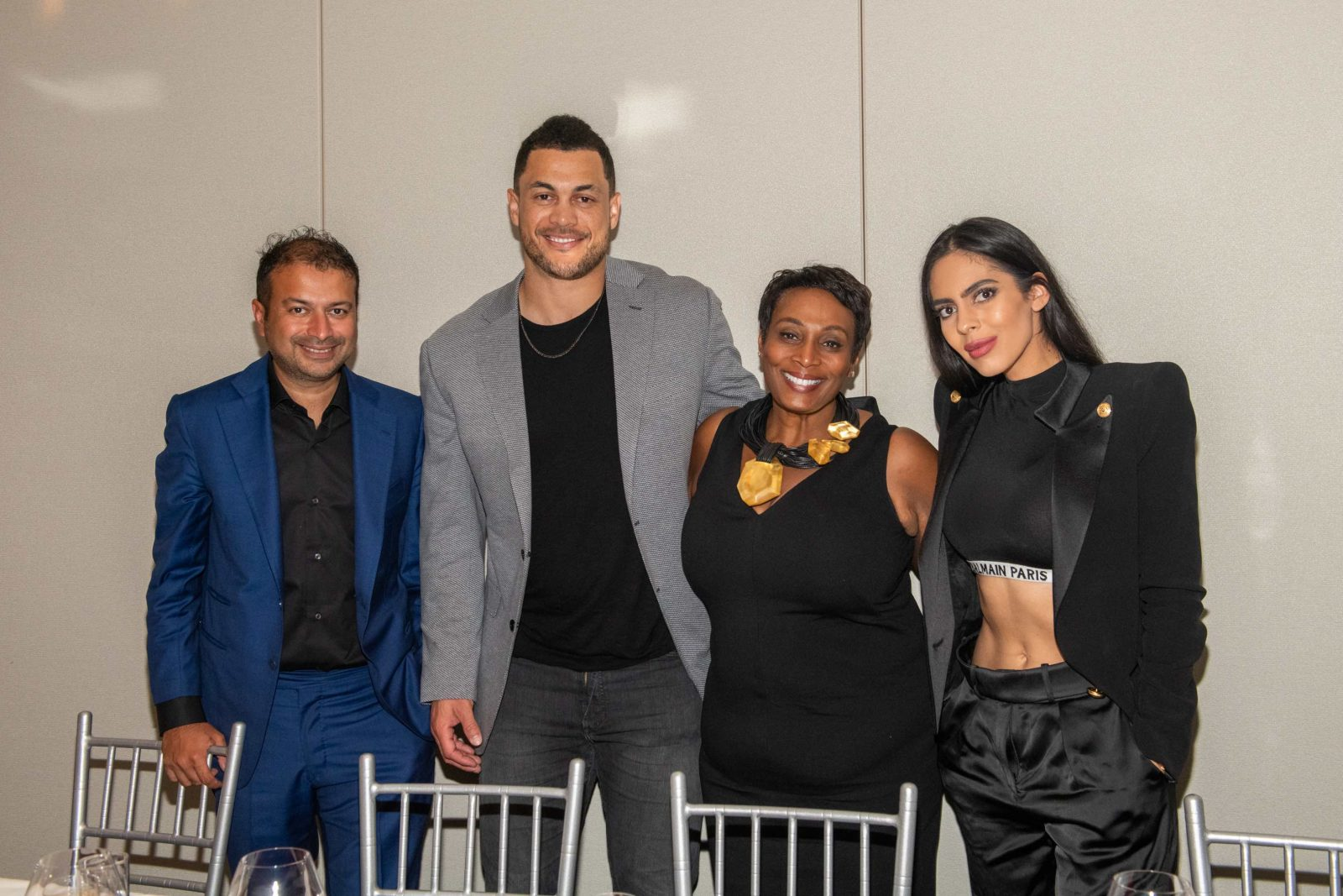 Kamal Hotchandani, Giancarlo Stanton, Julia Brown and Deyvanshi Masrani