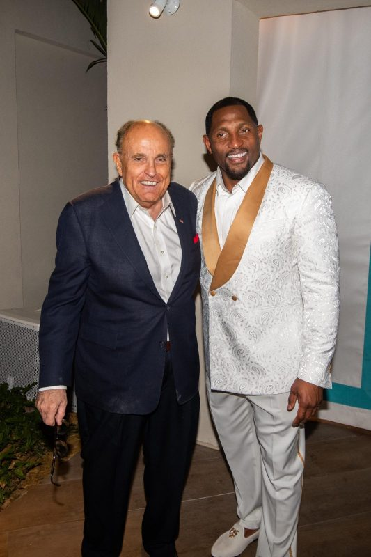 Rudy Giuliani and Ray Lewis