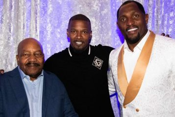 Jim Brown, Jamie Foxx and Ray Lewis