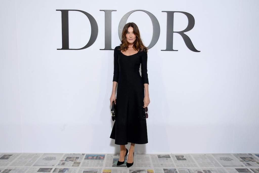 Carla Bruni Dior : Photocall - Paris Fashion Week Womenswear Fall/Winter 2020/2021