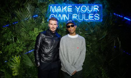 David Beckham and Pharrell Williams at the Haig Club House Party hosted at Swan to celebrate the launch of HAIG CLUB Scotch Whisky in Miami (James Ward Taylor)