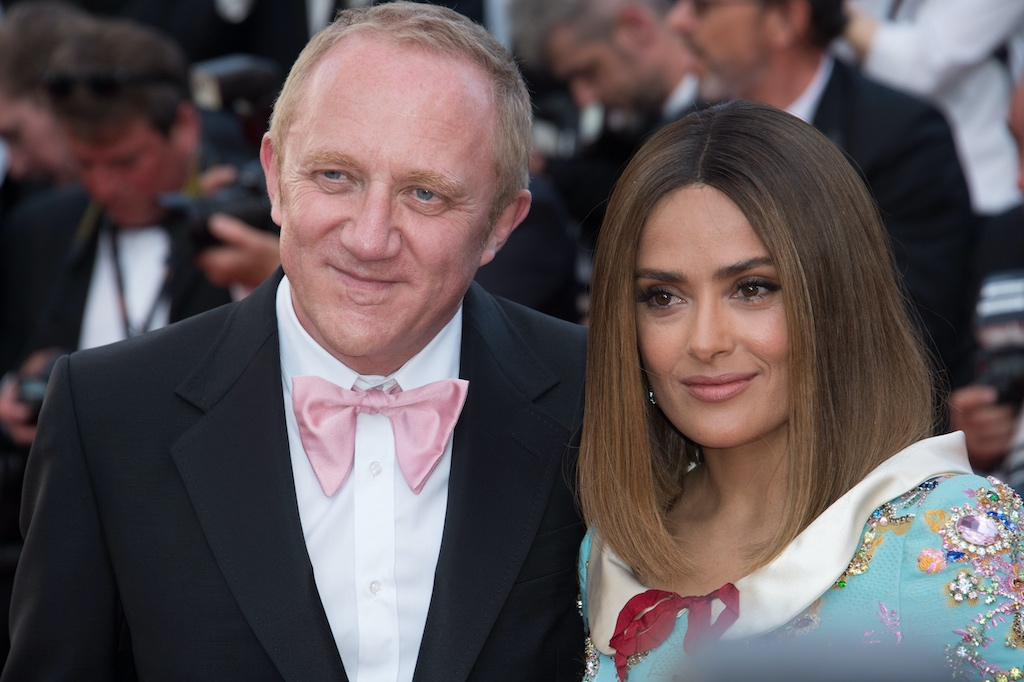 Chairman and Chief Executive Officer of Kering Group, François-Henri Pinault and wife Salma Hayek Pinault
