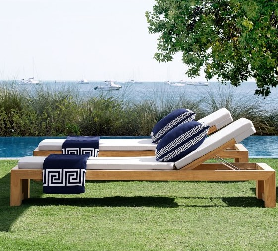 Larnaca Outdoor Teak Chaise