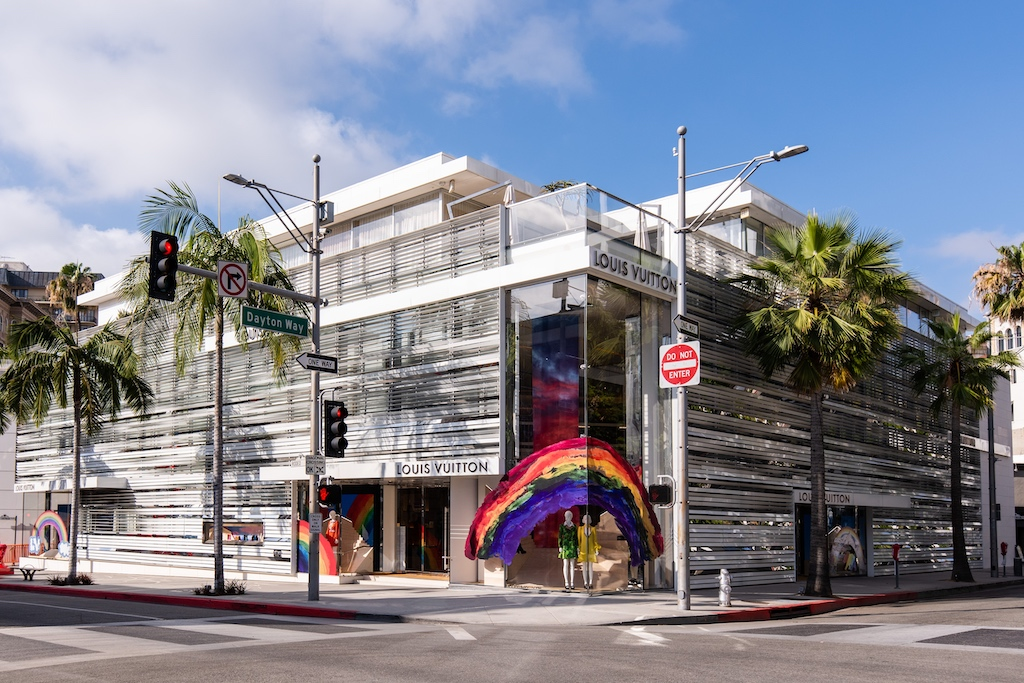 Louis Vuitton Beverly Hills rainbow