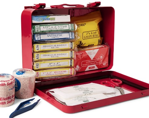 Red Steel First Aid Kit