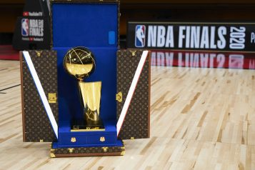Louis Vuitton Larry O'Brien trophy nba