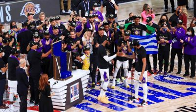 Louis Vuitton Larry O'Brien trophy nba Los Angeles lakers
