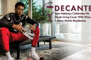 Bam Adebayo Celebrates His Haute Living Cover with Wine Access + Aston Martin Residences