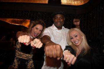 Lennox Lewis Marion Miami leaders dinner April 2021