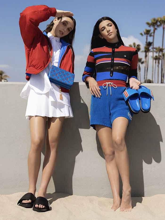 Louis Vuitton Footwear Campaign Charli D'Amelio And Emma Chamberlain
