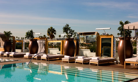 sls hotel pool