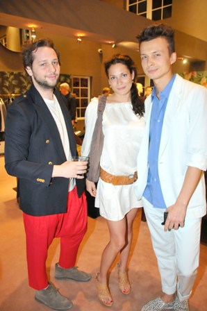 Derek Blasberg, Julie Hardy & German Larkin at the ALTUZARRA Cocktail Party at The Webster. Photo credit Manny Hernandez (4)