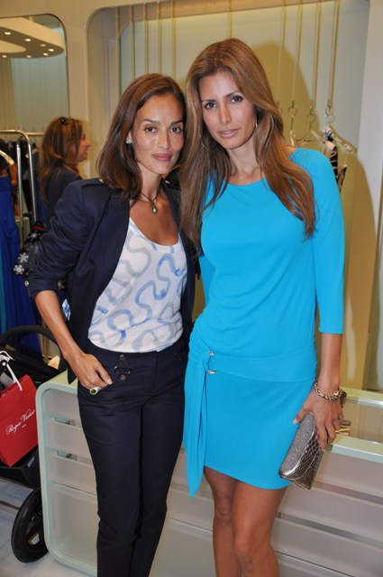 Emilio Pucci Afternoon High Tea, Leticia Grendene & Elsa Benitez 1, Photo Credit Manny Hernandez
