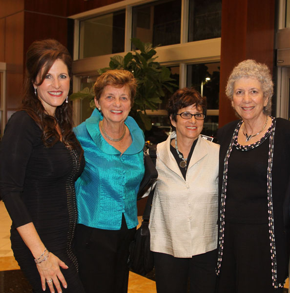 Martine Zinn, Corporate Relations Executive of Lexus of North Miami with Jessica Olefson and Francine Bishop Good, founding members of Funding Arts Broward (FAB!), and Broward County Vice Mayor Sue Gunzburger
