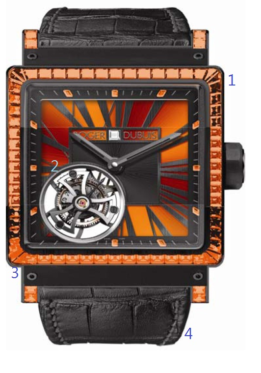 Roger Dubuis Kingsquare Tourbillon watch WITH POINTS