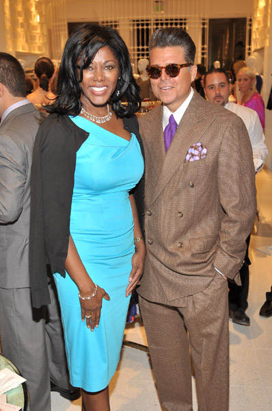 Trina Turk Grand Opening Event Bal Harbour Shops – NBC's Trina Robinson & Rob Adams